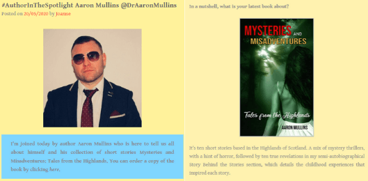 Aaron Mullins Author Book Blog Interview