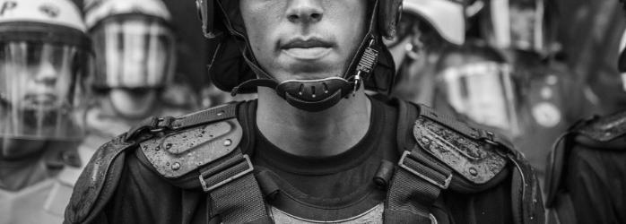 Aaron Mullins Police Brutality Protest Black Lives Matter Dystopian Fiction